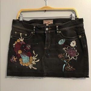 🌸Candies Vintage Denim Embroidered Skirt sz 13 🌸